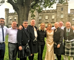 Fantastic wedding party at Dundas Castle, Edinburgh
